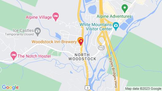 Woodstock Inn Station & Brewery Map