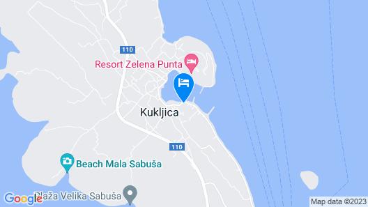 Apartment Mile  A2(2+2)  - Kukljica, Island Ugljan, Croatia Map