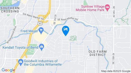 Modern Bungalow ~ Private Hot Tub ~ Convenient Location Map