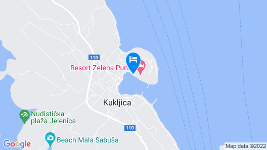 Zelena Punta Map