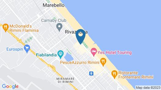 Si Rimini Hotel Map