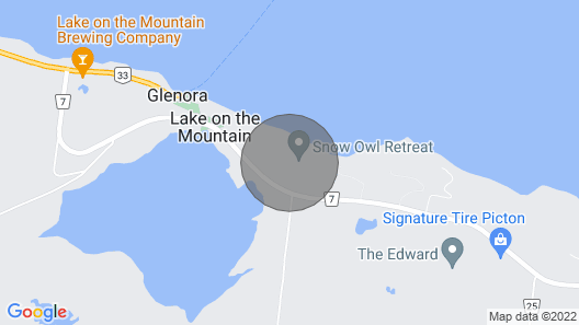 Luxury Vacation Home in Prince Edward County Ontario Map