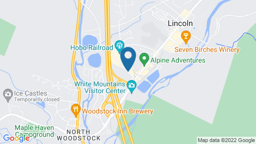 Holiday Inn Express & Suites Lincoln East - White Mountains Map