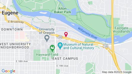 University Inn & Suites Map