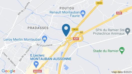 Hotel Kyriad Montauban Map