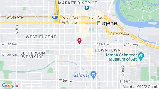Home2 Suites by Hilton Eugene Downtown University Area Map