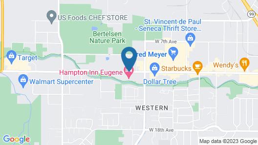 Hampton Inn Eugene Map