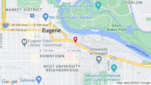 Phoenix Inn Suites Eugene Map