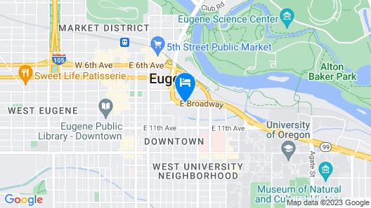 Travelodge Eugene Downtown/university of Oregon Map