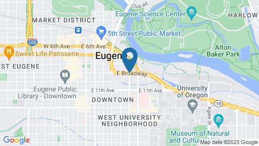 Red Lion Inn & Suites Eugene Map