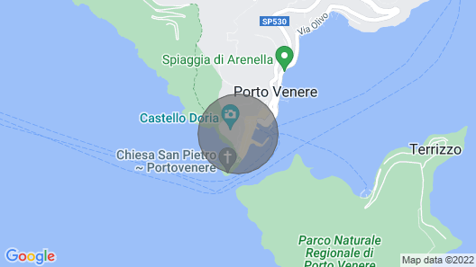VILLACASTELLOPORTOVENERE WITH LARGE GARDEN AND MEMORABLE SEA VIEW Map