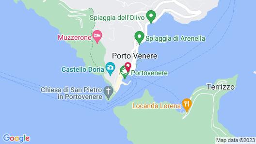 Grand Hotel Portovenere Map