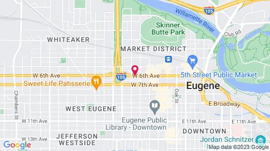 Courtesy Inn Eugene Downtown Map