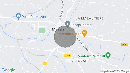 Charming House Mazan Provence Luberon 4 to 10 People Near Avignon Bedoin Map