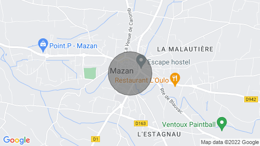 Charming House in the Heart of Mazan With Heated Pool Map