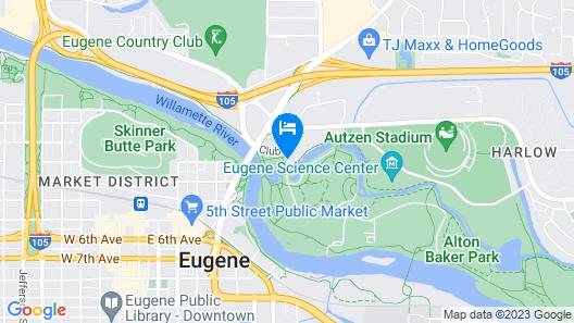 La Quinta Inn & Suites by Wyndham Eugene Map