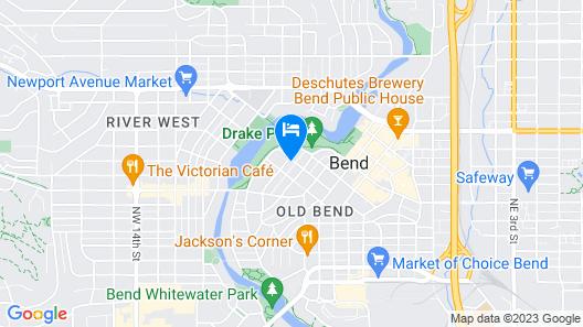Bluebird Day - Mirror Pond - Heart of Downtown, Walk Everywhere Map
