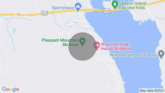Shawnee Peak - Family Vacation, Year Round, 3 Floors, Moose Pond Map