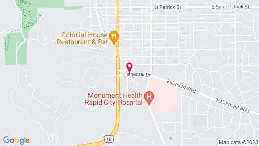 Quality Inn near Monument Health Rapid City Hospital Map