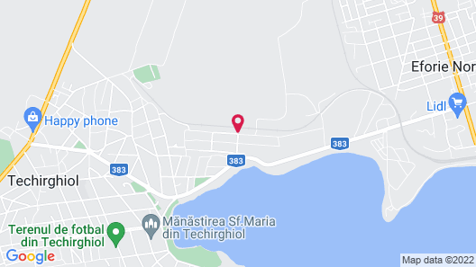 Pensiunea Cristian Alexandru Techirghiol Map