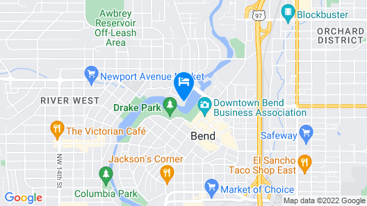Waterfront Home on Mirror Pond is Steps Away From Downtown Bend Map