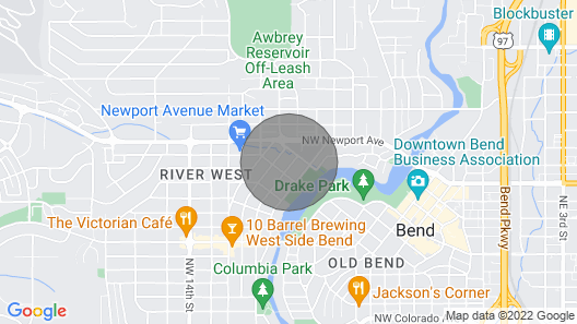 Book your summer escape in Bend and stay just steps to Downtown & Drake Park! Map
