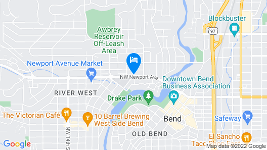 Convenient & Cozy Cottage On Newport Near River, Downtown & Drake Park Map