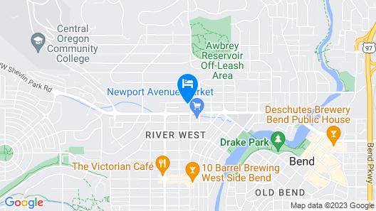 Bluebird Day - Juniper Retreat - Walk or Bike Everywhere! Map