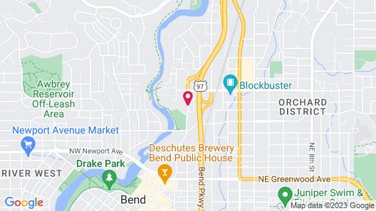 Bend Riverside Rentals Map