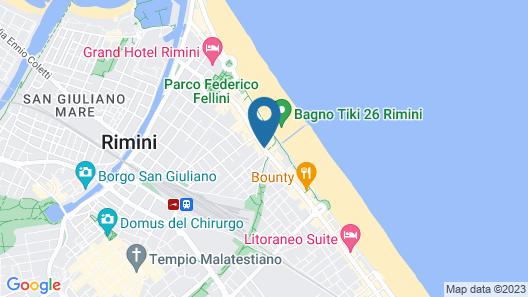 Hotel Villa Rosa Riviera Map