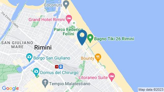 Trieste Hotel Map