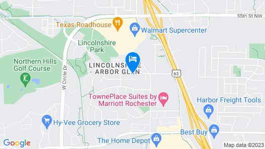 Suburban Gem W/yard+deck 5Mi From Dtwn Rochester! Map