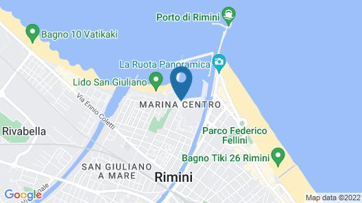 Floating Resort Rimini Map