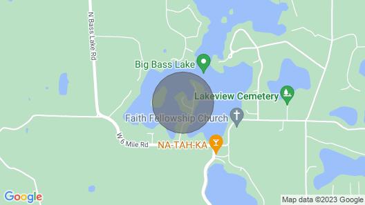 Isle of the Wilds Spacious 4 Bed 2 Bath Bass Lake Sandy Beach! Lake Mi Nearby! Map