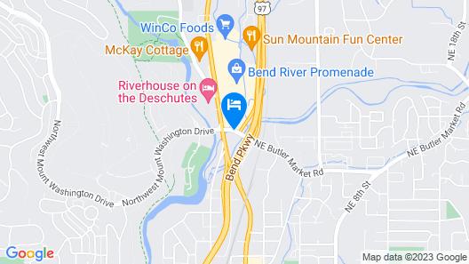 Red Lion Inn & Suites Deschutes River Bend Map