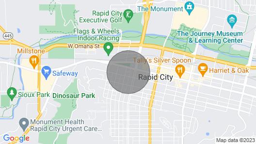 Modern Luxury Downtown Rapid City Map