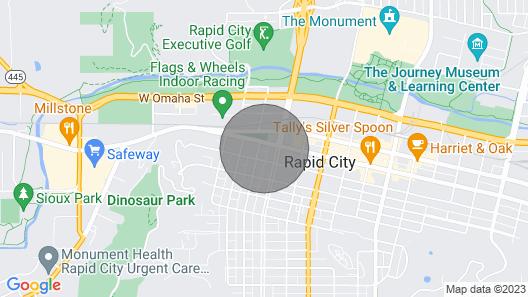 Luxurious Bungalow - Blue House - Downtown Rapid City Map