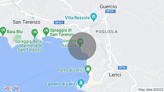 Top Location in Lerici, Quiet, 100mt From the Beach, sea Views, Sleeps 2-6 Map