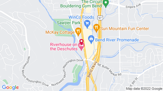 Shilo Inn Suites Hotel - Bend Map