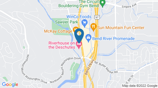Shilo Inn Suites Hotel - Bend Map