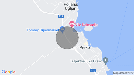 Apartments Vila Marijana - Preko - Island Ugljan Map