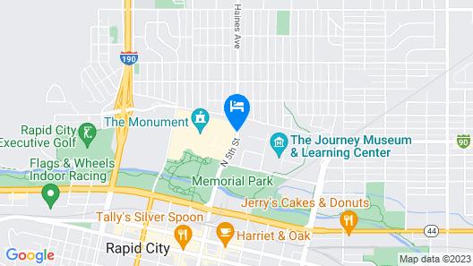 Holiday Inn Rapid City-Rushmore Plaza Map