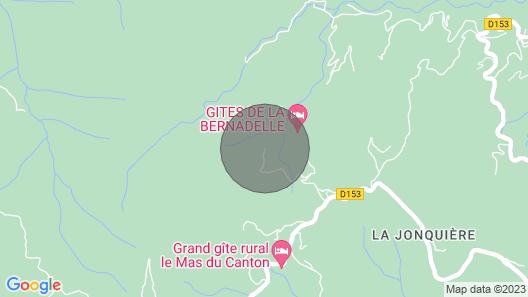 Gite Bernadelle Baragnas in the Heart of the Cevennes Nature, Internet Swimming Pool Map