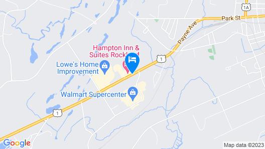 Hampton Inn & Suites Rockland Map