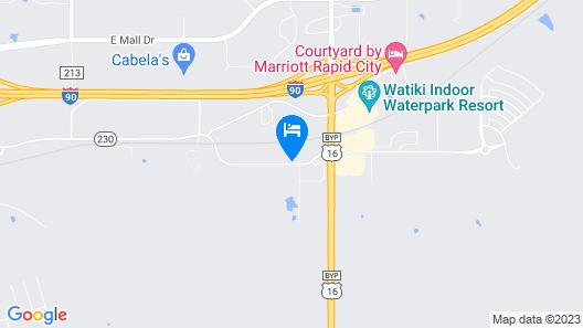 Best Western Plus Rapid City Rushmore Map