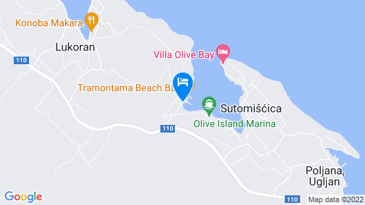 Detached Holiday House With Private Garden by the sea Map