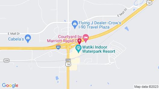 Residence Inn Rapid City Map
