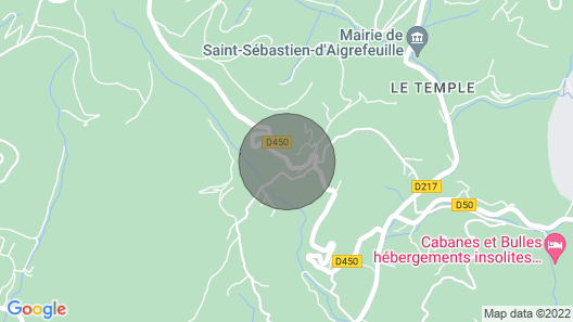 Gîte le Micocoulier, River Less Than 1km Away, Free Wifi, Near Anduze Map