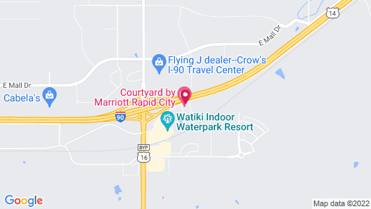 Courtyard by Marriott Rapid City Map