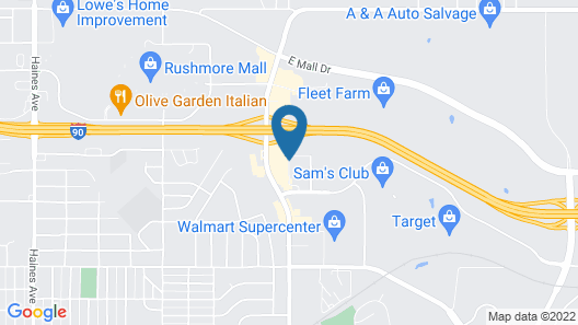 Microtel Inn & Suites by Wyndham Rapid City Map